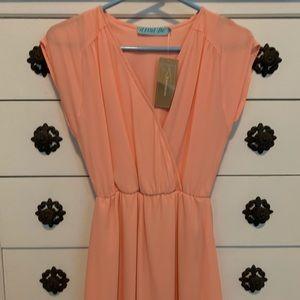 Small Francesca peach dress, never worn!